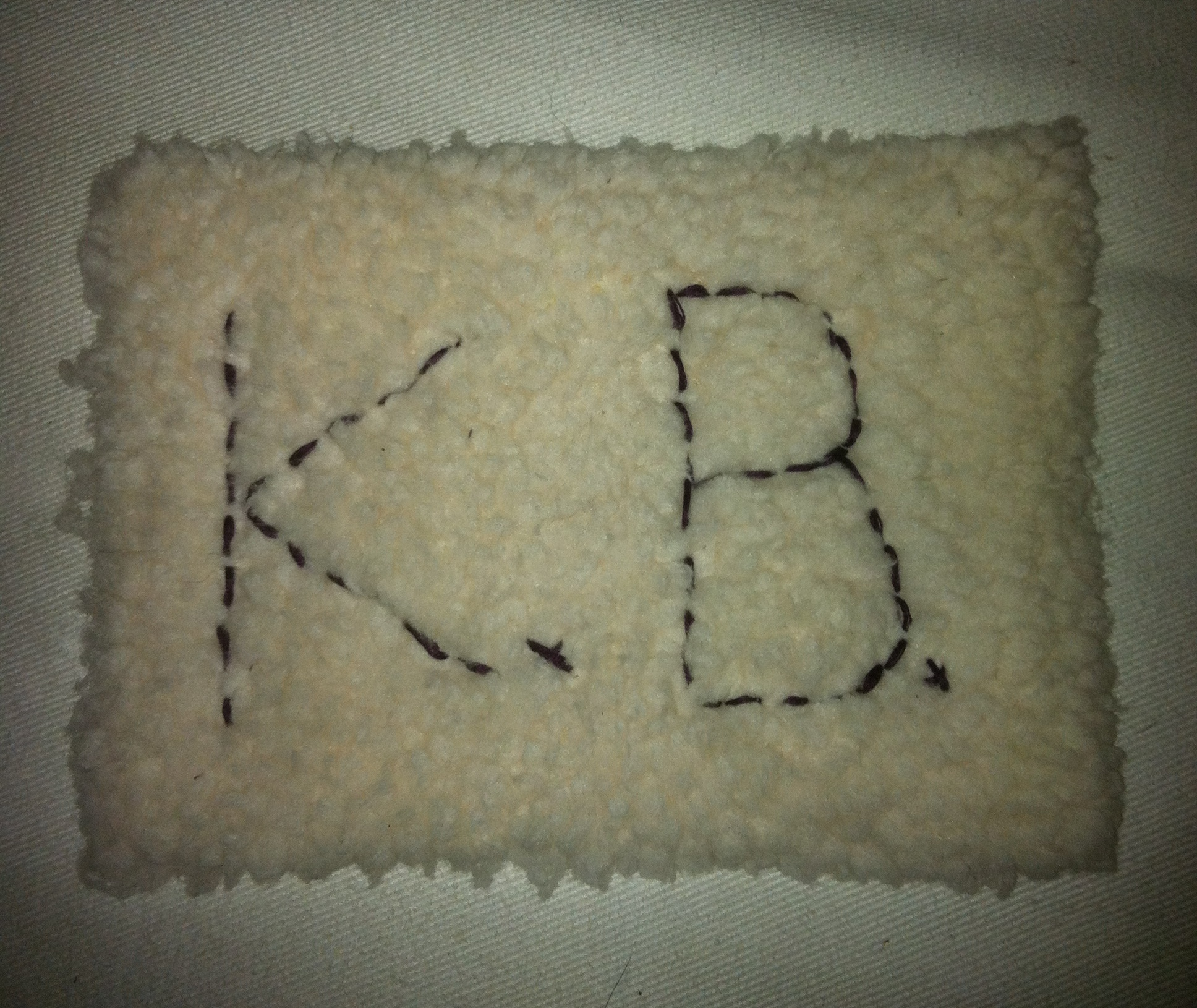 Kb Initials http://littlehousebigheart.com/2011/12/14/mint-chocolate-chip-cheesecake/