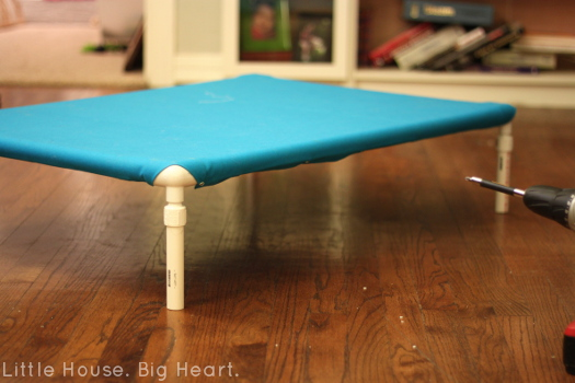 DIY Raised PVC Dog Bed - Little House. Big Heart.