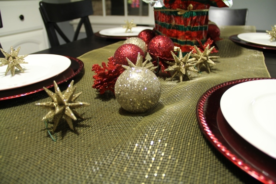 Christmas Ornaments on a Table