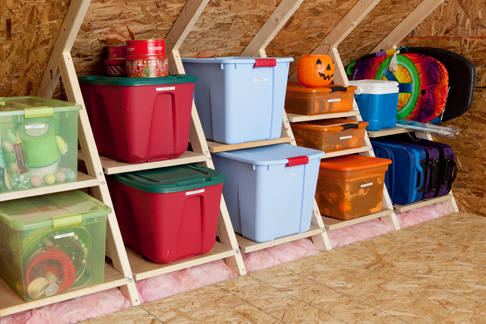 Simple Attic Or Kneewall Storage Idea For The Home