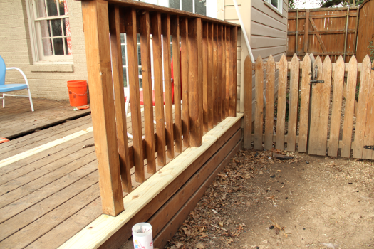 cut around deck posts DIY