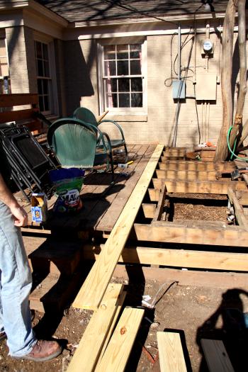 replacing rotten deck boards