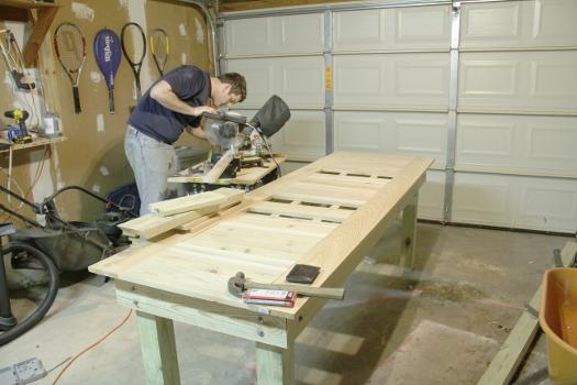 Cedar Topped Outdoor Table