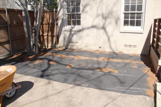 Decomposed Granite Patio Underlayment