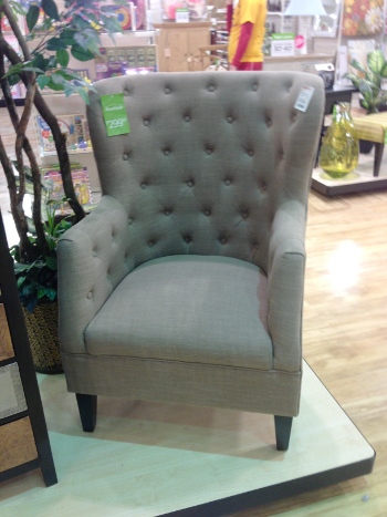 Home Goods Tufted Back Chair