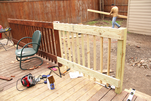 Little House. Big Heart. - Deck railing complete repairs