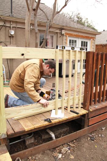 Little House. Big Heart. - Deck railing repair