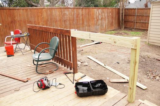 Little House. Big Heart. - Deck railing repairs