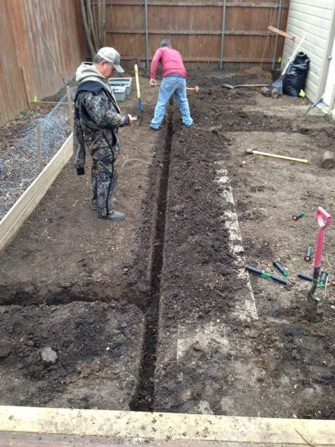 Trenching the Sprinkler System