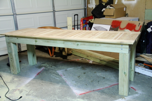 Pinterest Challenge DIY Outdoor Dining Table