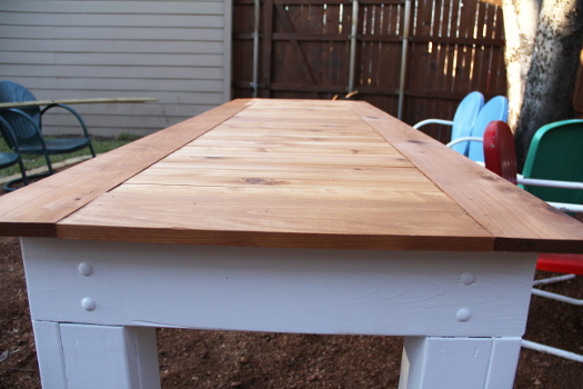 DIY Cedar Patio Dining Table