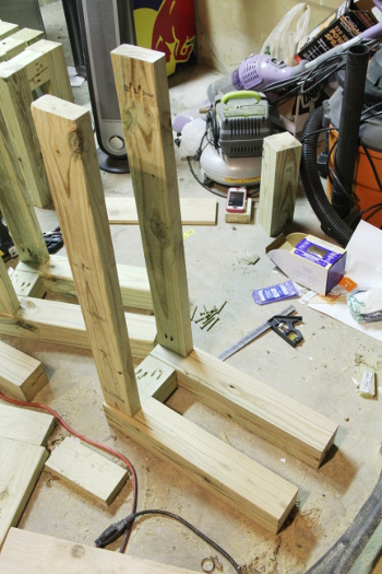 DIY outdoor benches and table cedar
