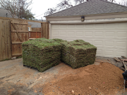 Pallets of Sod Delivered