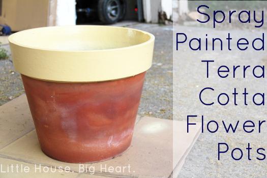 Spray Painted Terra Cotta Flower Pots Logo