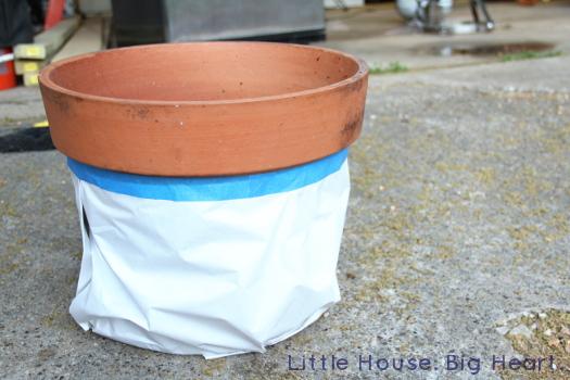 Terra Cotta Painted Flowerpot