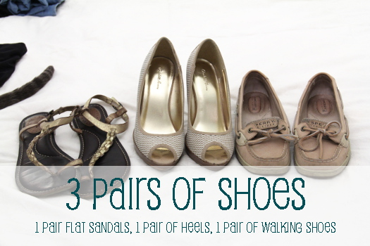 3 pairs of shoes