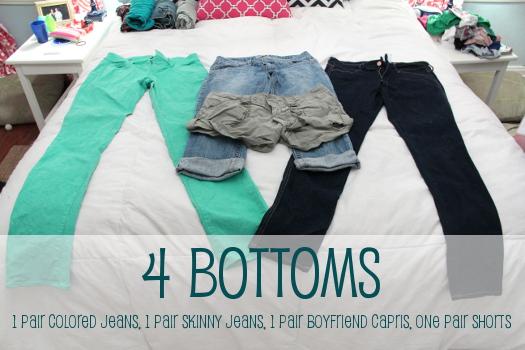 4 bottoms