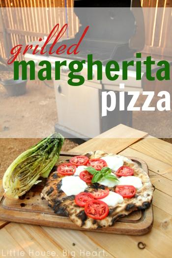 Fire Grilled Margherita Pizza and Romaine from Little House. Big Heart.