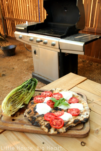 Fire Grilled Margherita Pizza