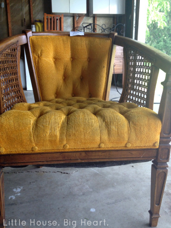 Louis XV Cane Chair Repurpose Before 1