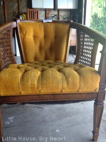 Louis XV Cane Chair Repurpose Before 1