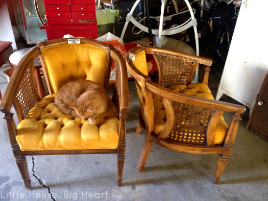 Louis XV Cane Chair Repurpose Before 2
