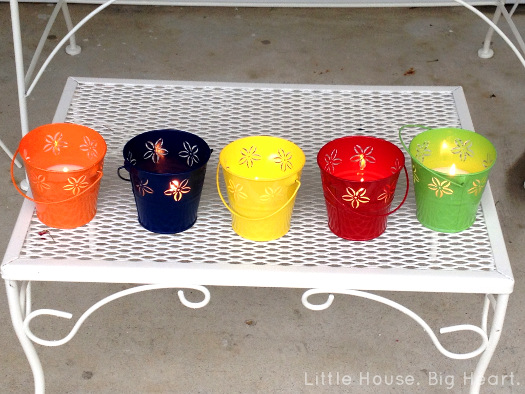 Finished DIY Citronella Candles