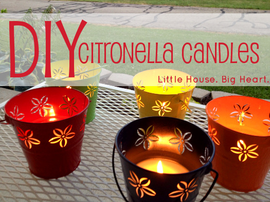 Homemade Citronella Candles Little House. Big Heart.