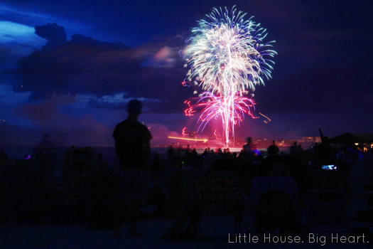 Siesta Key Fireworks 2013 Little House. Big Heart.